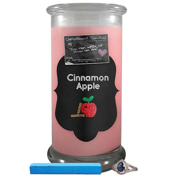 Cinnamon Apple Chalkboard Candles-Chalkboard Jewelry Candles-The Official Website of Jewelry Candles - Find Jewelry In Candles!