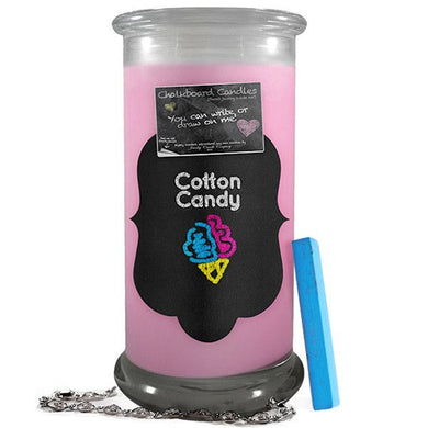 Cotton Candy | Chalkboard Candles-Chalkboard Jewelry Candles-The Official Website of Jewelry Candles - Find Jewelry In Candles!