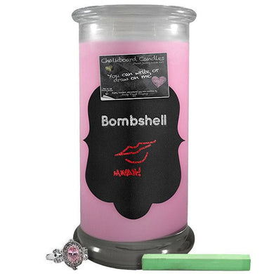 Bombshell | Chalkboard Candle-Chalkboard Jewelry Candles-The Official Website of Jewelry Candles - Find Jewelry In Candles!