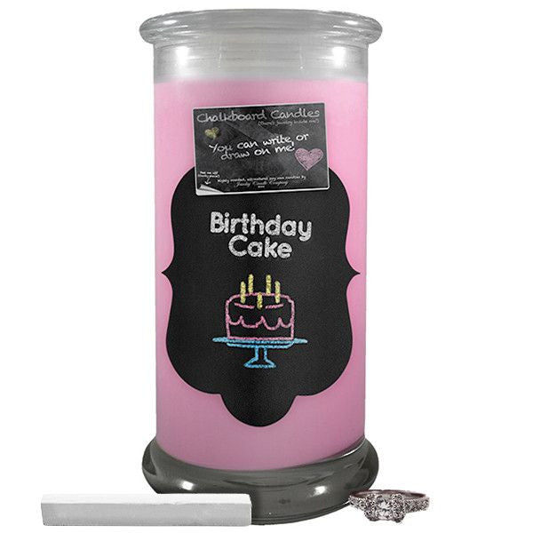 Birthday Cake Chalkboard Candle-Chalkboard Jewelry Candles-The Official Website of Jewelry Candles - Find Jewelry In Candles!