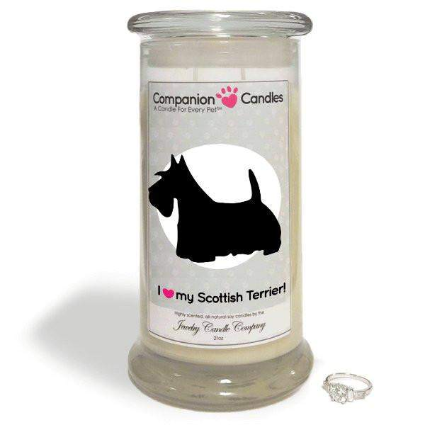 I Love My Scottish Terrier! - Companion Candles-Companion Candles-The Official Website of Jewelry Candles - Find Jewelry In Candles!