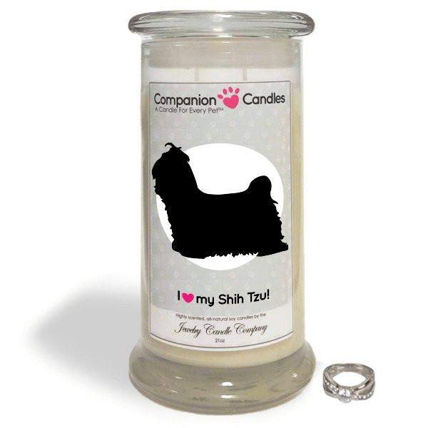I Love My Shih Tzu! - Companion Candles-Companion Candles-The Official Website of Jewelry Candles - Find Jewelry In Candles!