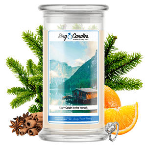 Cozy Cabin in the Woods Ring Candle