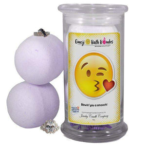 Blowin' you a smooch! Emoji Bath Bombs-Emoji Bath Bombs-The Official Website of Jewelry Candles - Find Jewelry In Candles!
