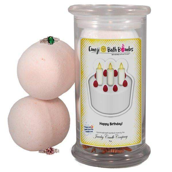 Happy Birthday! Emoji Bath Bombs-Emoji Bath Bombs-The Official Website of Jewelry Candles - Find Jewelry In Candles!