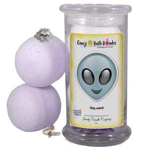 Stay weird! Emoji Bath Bombs-Emoji Bath Bombs-The Official Website of Jewelry Candles - Find Jewelry In Candles!