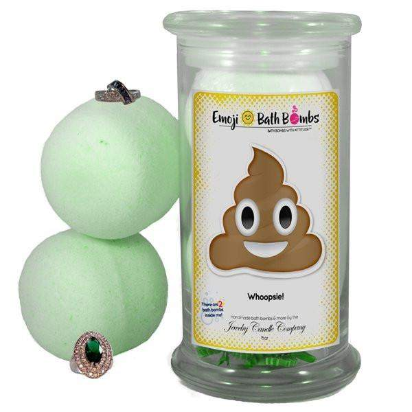 Whoopsie! Emoji Bath Bombs-Emoji Bath Bombs-The Official Website of Jewelry Candles - Find Jewelry In Candles!