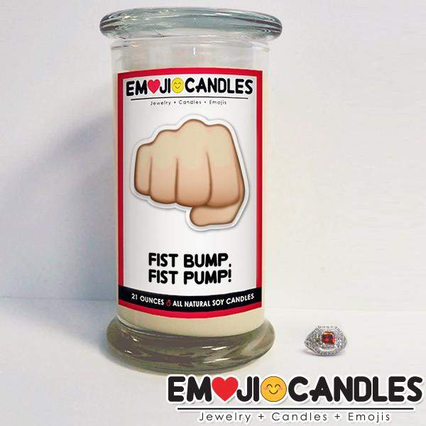 Fist Bump, Fist Pump! - Emoji Jewel Candle-Emoji Candles-The Official Website of Jewelry Candles - Find Jewelry In Candles!