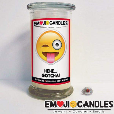 Hehe, Gotcha! - Emoji Candles-Emoji Candles-The Official Website of Jewelry Candles - Find Jewelry In Candles!