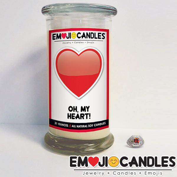 Oh, My Heart! - Emoji Candles-Emoji Candles-The Official Website of Jewelry Candles - Find Jewelry In Candles!