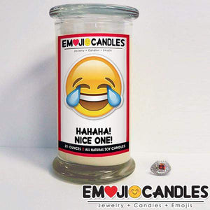 Hahaha! Nice One! - Emoji Jewel Candles-Emoji Candles-The Official Website of Jewelry Candles - Find Jewelry In Candles!