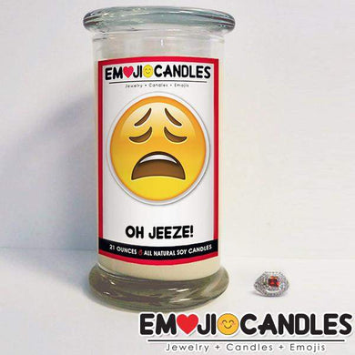 Oh Jeeze! - Emoji Candles-Emoji Candles-The Official Website of Jewelry Candles - Find Jewelry In Candles!