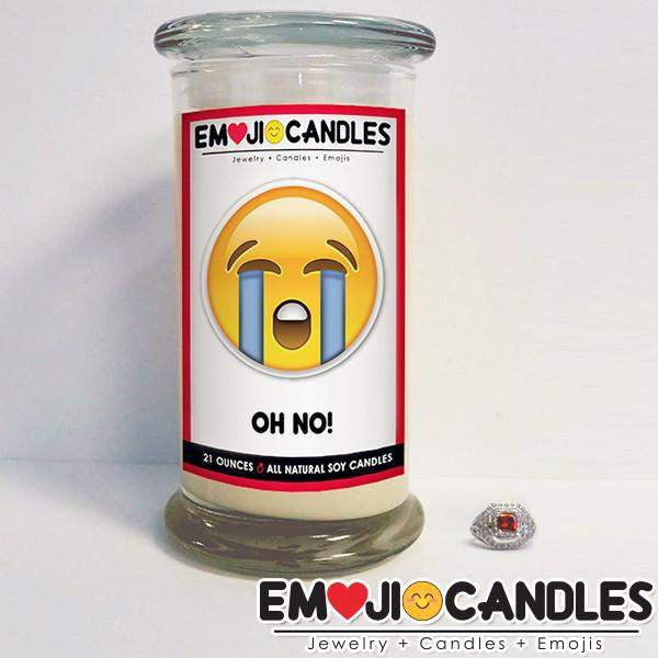Oh No! - Emoji Candles-Emoji Candles-The Official Website of Jewelry Candles - Find Jewelry In Candles!