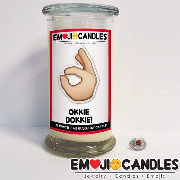 Okkie Dokkie! - Emoji Candles-Emoji Candles-The Official Website of Jewelry Candles - Find Jewelry In Candles!