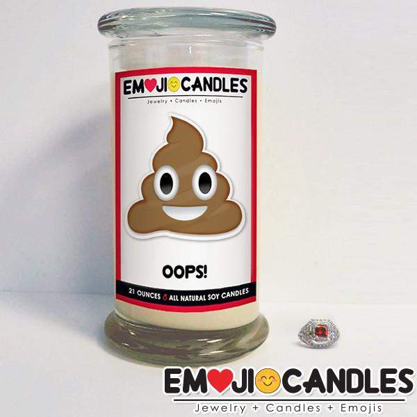 Oops! - Emoji Candles-Emoji Candles-The Official Website of Jewelry Candles - Find Jewelry In Candles!