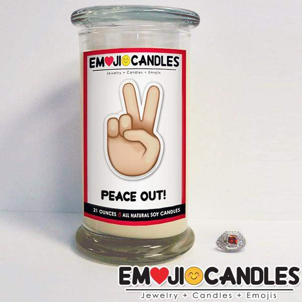 Peace Out! - Emoji Candles-Emoji Candles-The Official Website of Jewelry Candles - Find Jewelry In Candles!