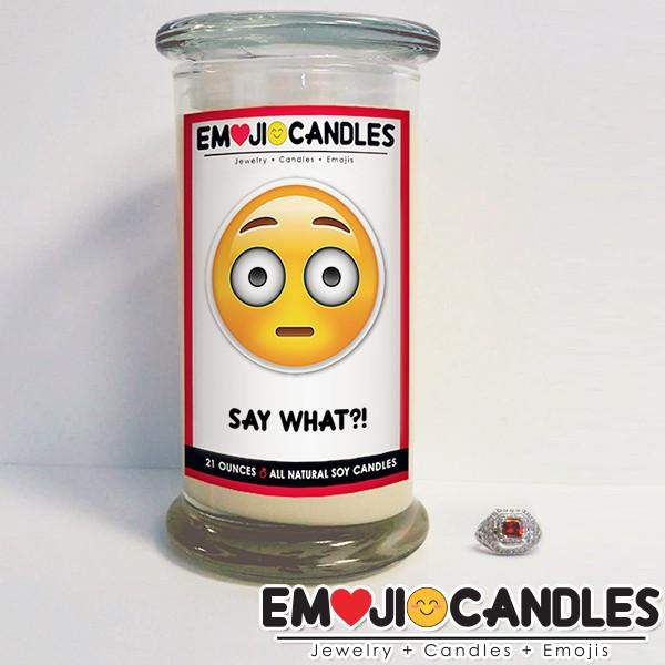 Say What?! - Emoji Candles-Emoji Candles-The Official Website of Jewelry Candles - Find Jewelry In Candles!