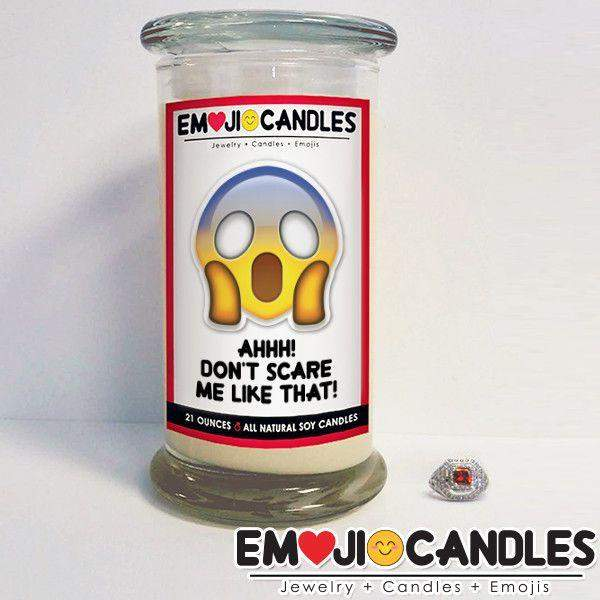 Ahh! Don't Scare Me Like That! - Emoji Jewel Candle-Emoji Candles-The Official Website of Jewelry Candles - Find Jewelry In Candles!