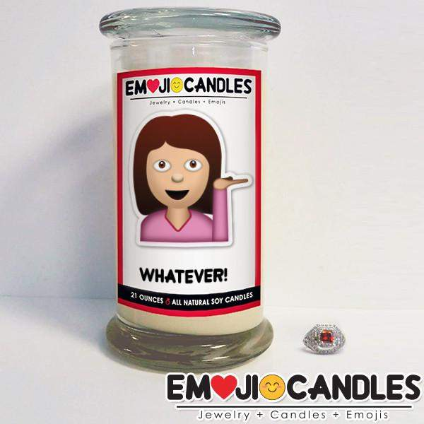 Whatever! - Emoji Candles-Emoji Candles-The Official Website of Jewelry Candles - Find Jewelry In Candles!