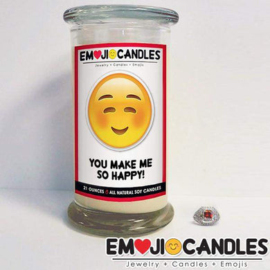 You Make Me So Happy! - Emoji Candles-Emoji Candles-The Official Website of Jewelry Candles - Find Jewelry In Candles!