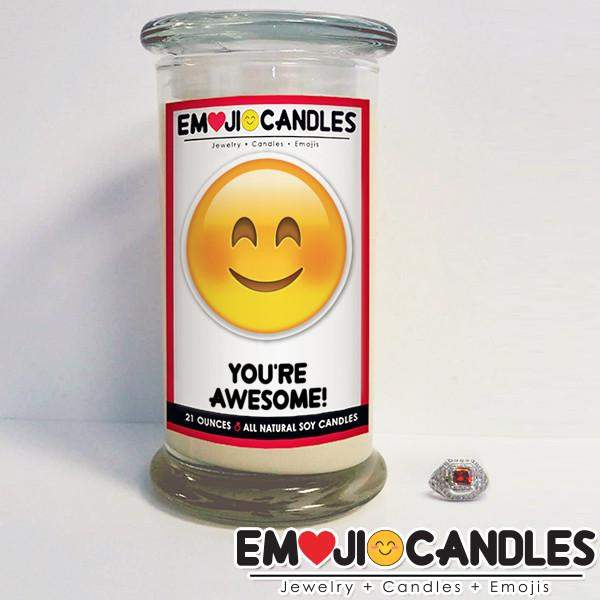 You're Awesome! - Emoji Candles-Emoji Candles-The Official Website of Jewelry Candles - Find Jewelry In Candles!