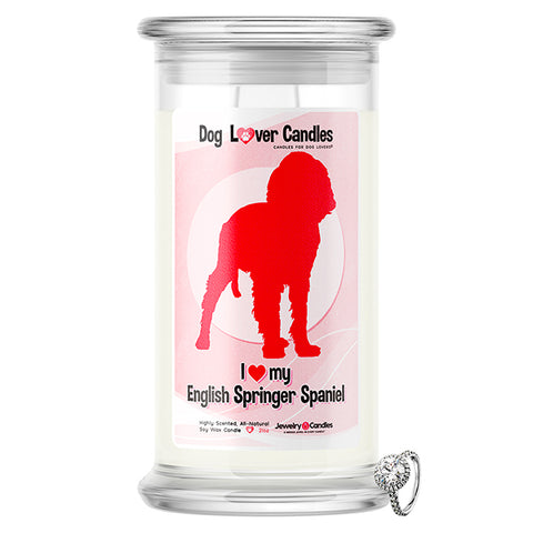 English Springer Spaniel Dog Lover Jewelry Candle