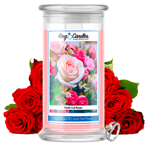 Fresh Cut Roses Ring Candle