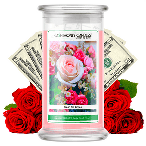 Fresh Cut Roses Cash Money Candle