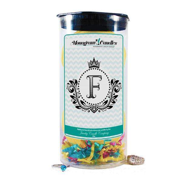 Letter F | Monogram Bath Bombs-Jewelry Bath Bombs-The Official Website of Jewelry Candles - Find Jewelry In Candles!
