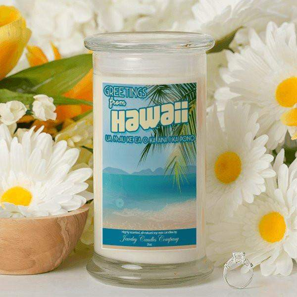 Greetings From Hawaii - Greetings From Candles-Greetings From Candles-The Official Website of Jewelry Candles - Find Jewelry In Candles!