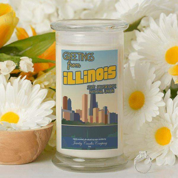 Greetings From Illinois - Greetings From Candles-Greetings From Candles-The Official Website of Jewelry Candles - Find Jewelry In Candles!