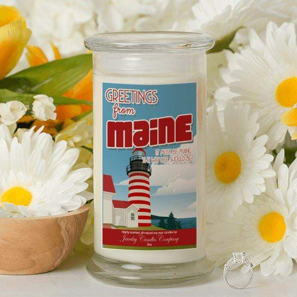 Greetings From Maine - Greetings From Candles-Greetings From Candles-The Official Website of Jewelry Candles - Find Jewelry In Candles!