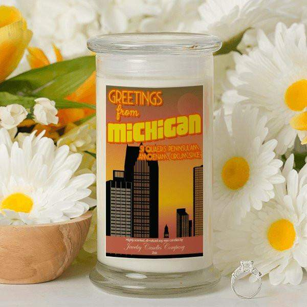 Greetings From Michigan - Greetings From Candles-Greetings From Candles-The Official Website of Jewelry Candles - Find Jewelry In Candles!