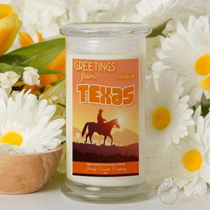 Greetings From Texas - Greetings From Candles-Greetings From Candles-The Official Website of Jewelry Candles - Find Jewelry In Candles!