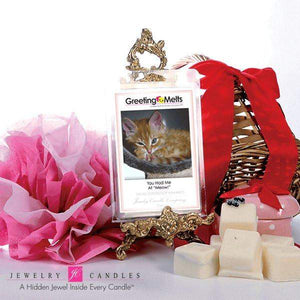 "You Had Me At ""Meow!"" - Greeting Melt-Greeting Tarts-The Official Website of Jewelry Candles - Find Jewelry In Candles!"