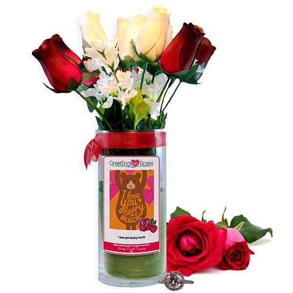 I love you beary much! Greeting Roses-Wax Dipped Roses-The Official Website of Jewelry Candles - Find Jewelry In Candles!