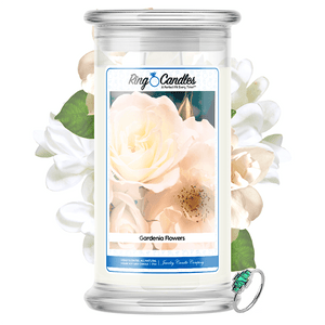 Gardenia Flowers Ring Candle