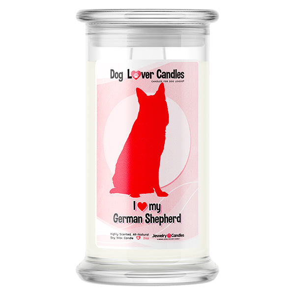 German Shepherd Dog Lover Candle