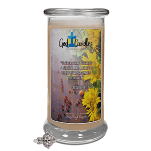 Ecclesiastes 3:1 Verse | God Candle®-God Candle | Bible Verse Jewelry Candles™-The Official Website of Jewelry Candles - Find Jewelry In Candles!