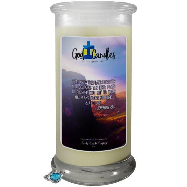 Jeremiah 29:11 Verse God Candle-God Candle | Bible Verse Jewelry Candles™-The Official Website of Jewelry Candles - Find Jewelry In Candles!