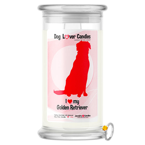 Golden Retriever Dog Lover Jewelry Candle
