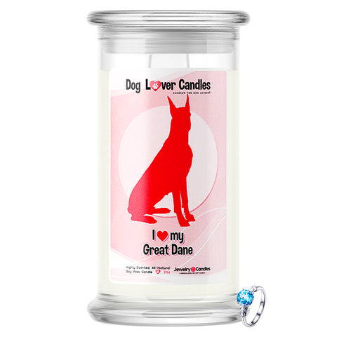 Great Dane Dog Lover Jewelry Candle