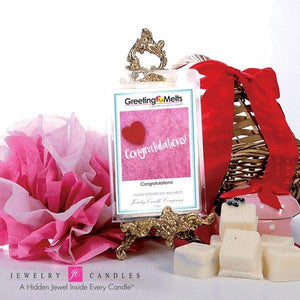 Congratulations! - Greeting Melt-Greeting Tarts-The Official Website of Jewelry Candles - Find Jewelry In Candles!