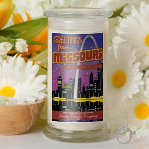 Greetings From Missouri - Greetings From Candles-Greetings From Candles-The Official Website of Jewelry Candles - Find Jewelry In Candles!