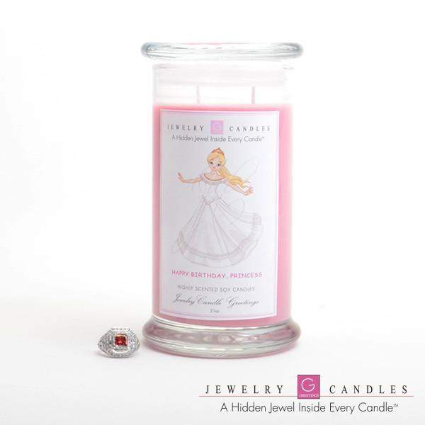 Happy Birthday Princess Jewelry Greeting Candles-Happy Birthday Princess Jewelry Greeting Candle-The Official Website of Jewelry Candles - Find Jewelry In Candles!