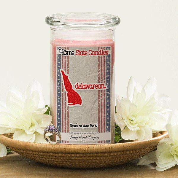 Home State Demonyms Jewelry Candles - Delawarean-Home State Demonyms Jewelry Candles-The Official Website of Jewelry Candles - Find Jewelry In Candles!