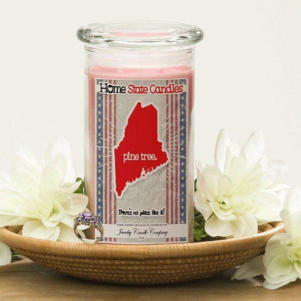 Home State Demonyms Jewelry Candles - Pine Tree-Home State Demonyms Jewelry Candles-The Official Website of Jewelry Candles - Find Jewelry In Candles!