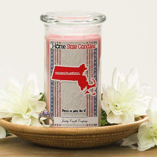 Home State Demonyms Jewelry Candles - Massachusettsan-Home State Demonyms Jewelry Candles-The Official Website of Jewelry Candles - Find Jewelry In Candles!