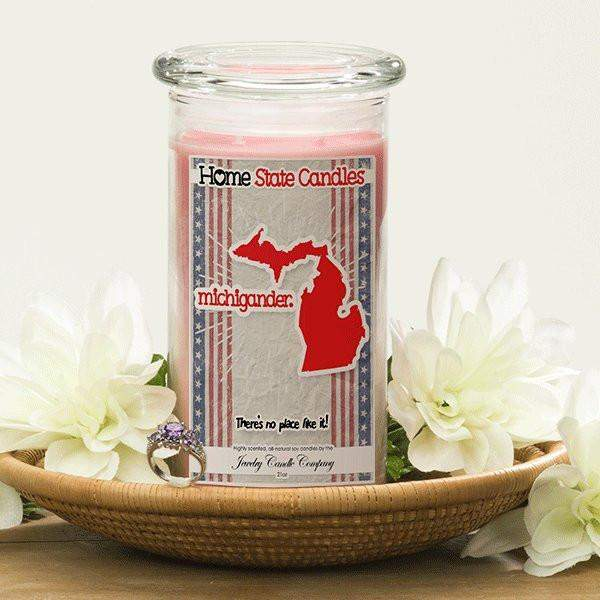 Home State Demonyms Jewelry Candles - Michigander-Home State Demonyms Jewelry Candles-The Official Website of Jewelry Candles - Find Jewelry In Candles!