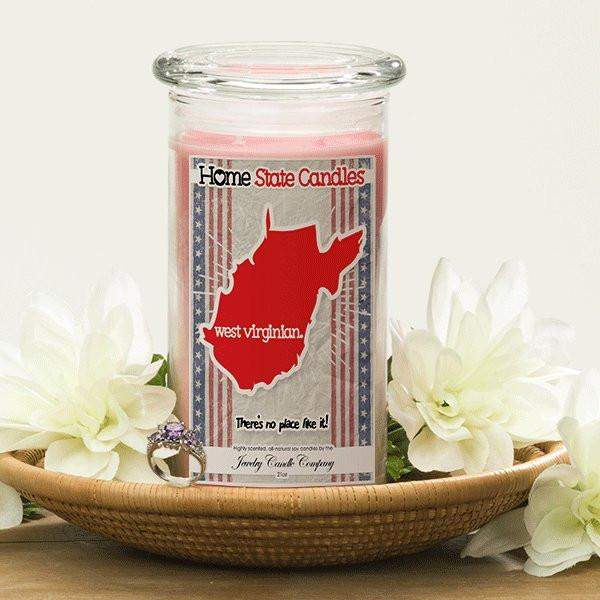 Home State Demonyms Jewelry Candles - West Virginian-Home State Demonyms Jewelry Candles-The Official Website of Jewelry Candles - Find Jewelry In Candles!